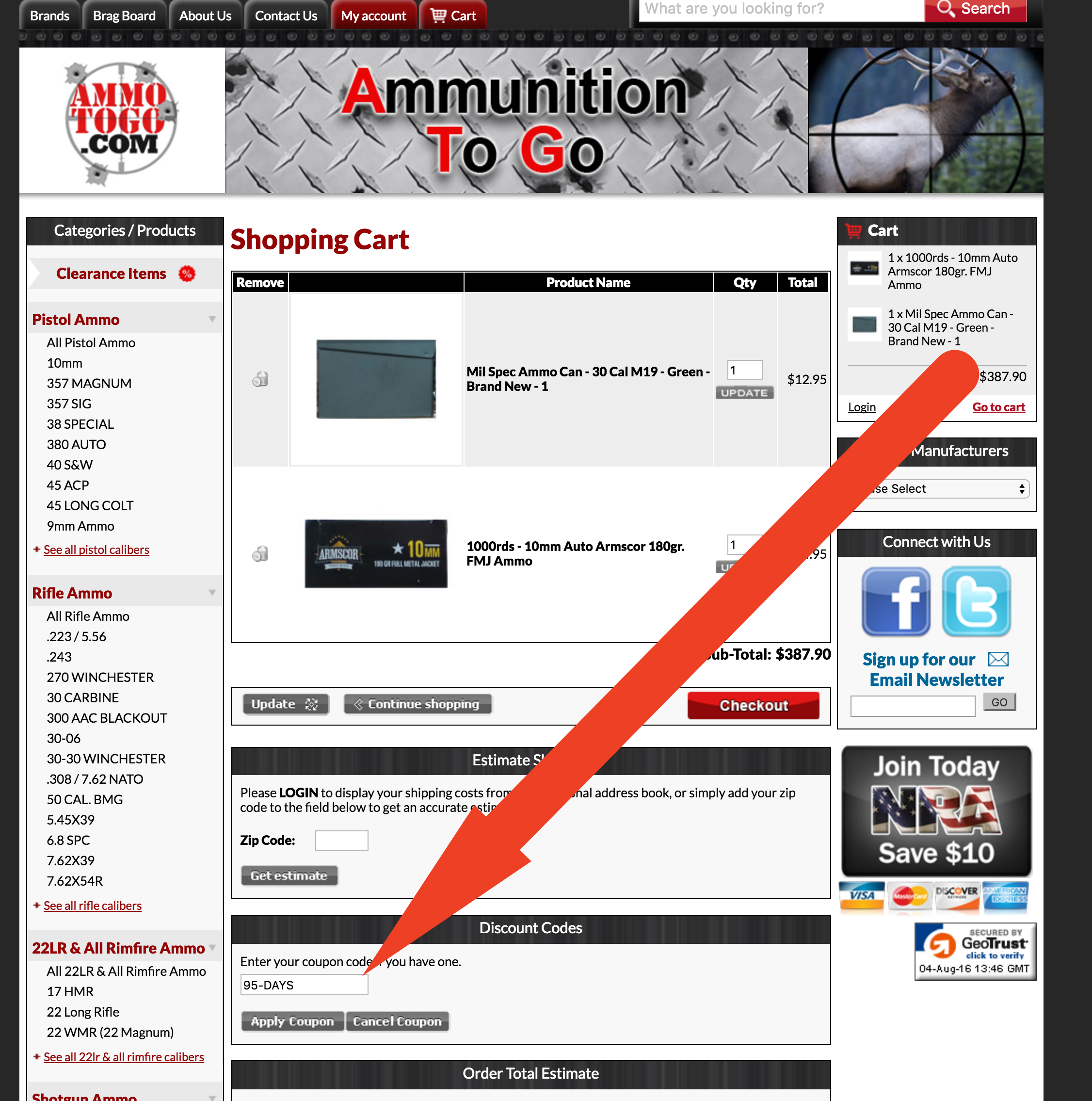 Ammotogo com discount coupons