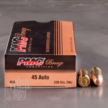 Image of 1000rds - 45 ACP PMC Bronze 230gr. FMJ Ammo