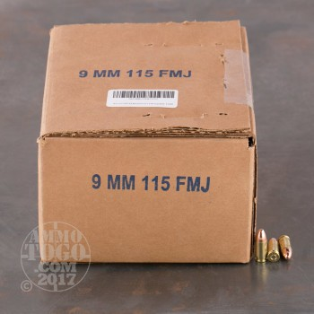 Image of 1000rds - 9mm DRS 115gr. FMJ Ammo (Once Fired Brass)