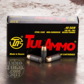 Image of 500rds - 40 S&W Tula 180gr. FMJ Ammo