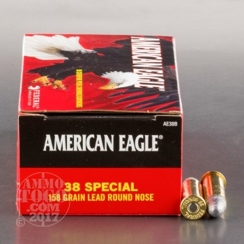 Image of 1000rds - 38 Special Federal American Eagle 158gr. LRN Ammo