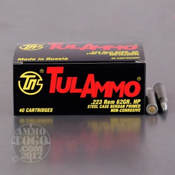 Image of 1000rds – 223 Tula 62gr. Hollow Point Ammo