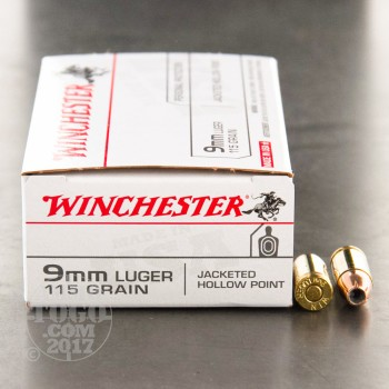Image of 500rds - 9mm Winchester USA 115gr. Hollow Point Ammo