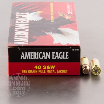 Image of 1000rds - 40 S&W Federal American Eagle 165gr. FMJ Ammo