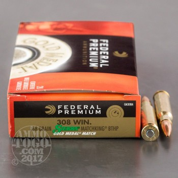 Image of 200rds - .308 Federal Gold Medal 168gr. Match Ammo