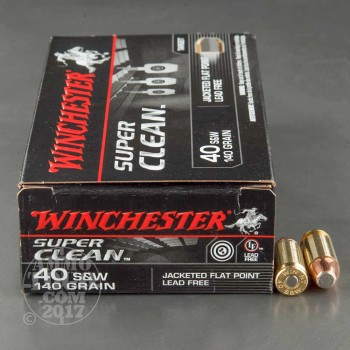 Image of 50rds – 40 S&W Winchester Super Clean 140gr. JFP Ammo