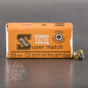 Image of 600rds - 22 Short Vostok Super Match 28gr. LRN Ammo