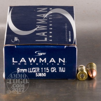Image of 1000rds - 9mm Speer Lawman 115gr. TMJ Ammo