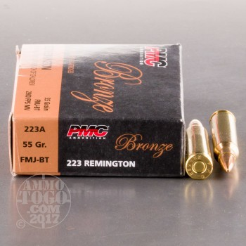 Image of 1000rds - .223 PMC Bronze 55gr. FMJ Ammo