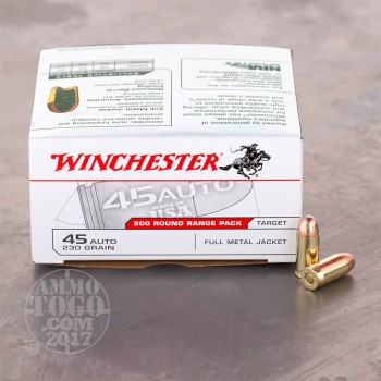 Image of 600rds - 45 ACP Winchester Range Pack 230gr. FMJ Ammo