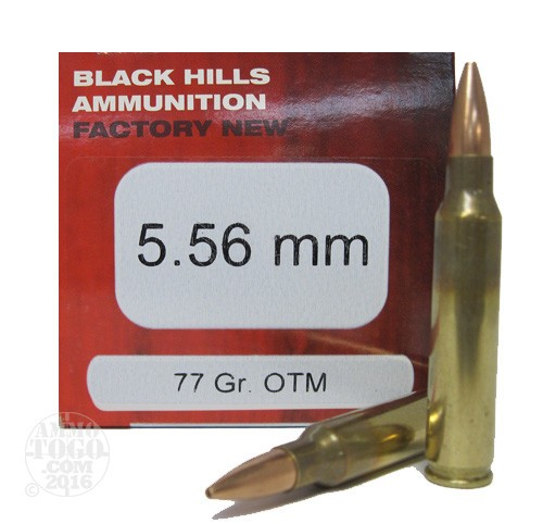 223 remington ammo rounds of 77 grain hollow point hp by black