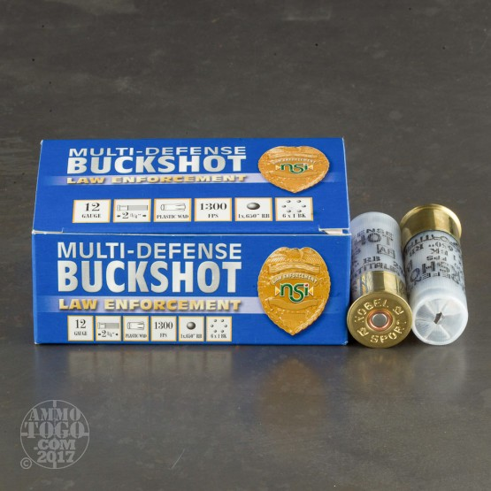 "250rds - 12 Gauge Nobelsport LE 2 3/4"" Multi-Defense Buckshot Ammo"