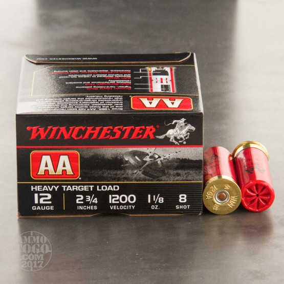 "25rds – 12 Gauge Winchester AA Heavy Target Load 2-3/4"" 1-1/8 oz. #8 Shot Ammo"