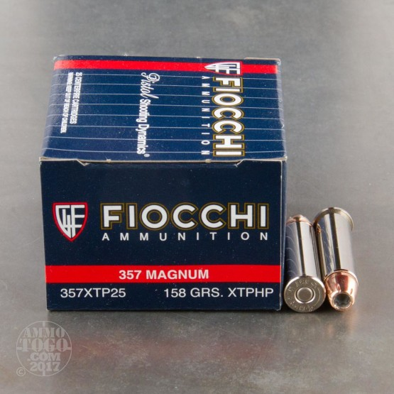 25rds - 357 Mag Fiocchi 158gr. XTP HP Ammo