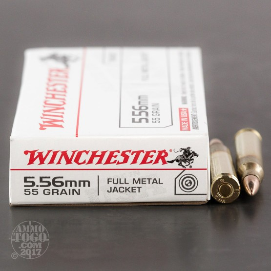 20rds - 5.56 Winchester Q3131 55gr. M-193 FMJ Ammo