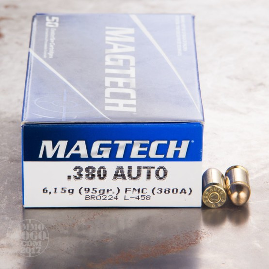 50rds - 380 Auto MAGTECH 95gr. FMJ Ammo