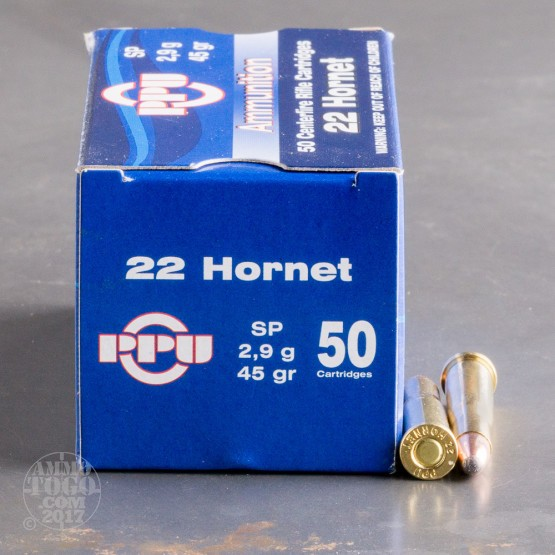500rds - 22 Hornet Prvi Partizan 45gr. Soft Point Ammo