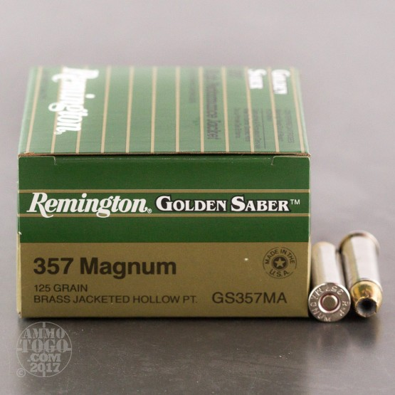 25rds - 357 Mag Remington Golden Saber 125gr. HP Ammo