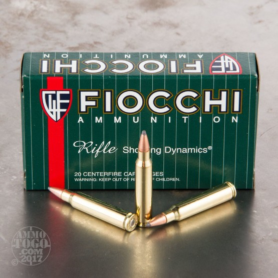 200rds - .223 Fiocchi 55gr. Pointed Soft Point Ammo