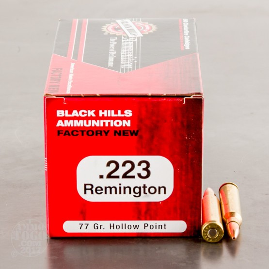 1000rds - 223 Black Hills 77gr. Sierra MatchKing Hollow Point Ammo