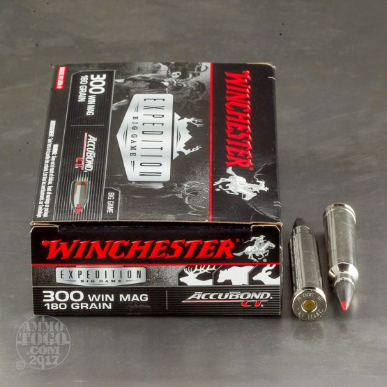 20rds - 300 Win. Mag. Winchester 180gr. Supreme AccuBond Ammo