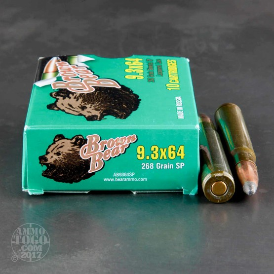 100rds - 9.3 x 64mm Brenneke Brown Bear 268gr. Bimetal SP Ammo