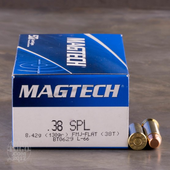 50rds - 38 Special Magtech 130gr. FMJ Ammo