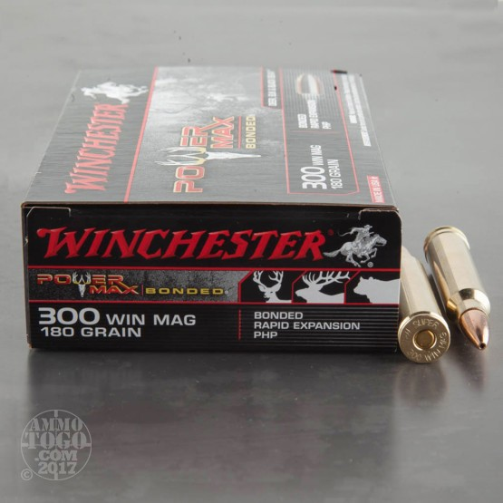 20rds - 300 Win. Mag. Winchester Power Max Bonded 180gr. PHP Ammo
