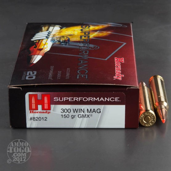 20rds - 300 Win Mag Hornady Superformance 150gr. GMX Ammo