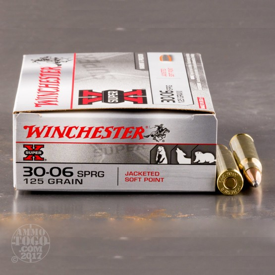 20rds - 30-06 Winchester 125gr. Super-X Pointed Soft Point Ammo