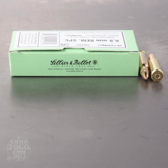 1000rds - 6.8 Remington SPC Sellier & Bellot 110gr. FMJ Ammo