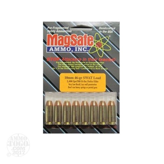 10rds - 10mm Magsafe 46gr. Swat Load Ammo