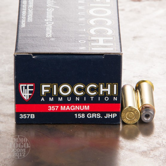 50rds - 357 Magnum Fiocchi Shooting Dynamics 158gr. JHP Ammo