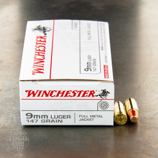 500rds - 9mm Winchester USA 147gr. TCMC Ammo