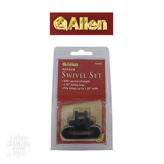 "1 - Allen Magnum 1.25"" Cast Sling Swivel Set Black"