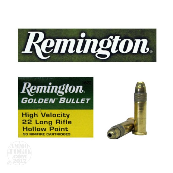 500rds - 22LR Remington 36gr. Golden Bullet Hollow Point Ammo