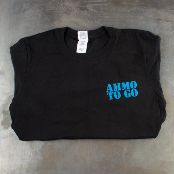 1 - Black T-Sleeve Shirt (Small) With Blue Ammo To Go Logo