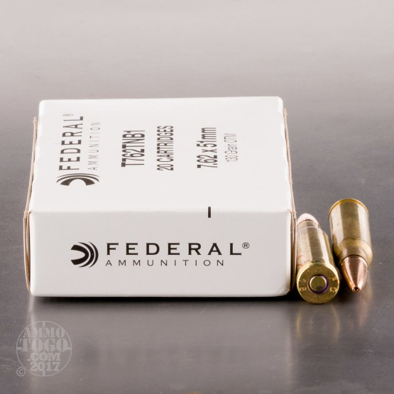 20rds - 308 Win. (7.62x51) Federal 130gr. OTM Ammo