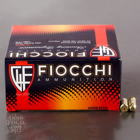 1000rds – 40 S&W Fiocchi Shooting Dynamics 165gr. FMJ Ammo