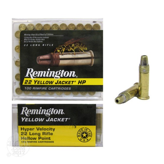 500rds - 22LR Remington Yellow Jacket 33gr. Hollow Point Ammo