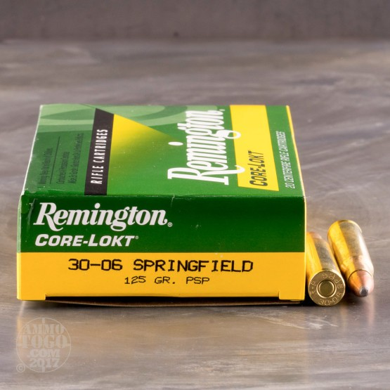 20rds - 30-06 Remington 125gr. Core-Lokt PSP Ammo