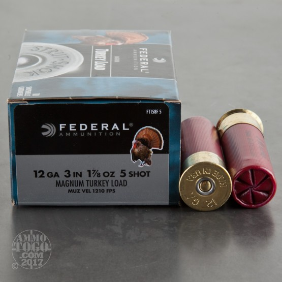 "10rds - 12 Gauge Federal Strut-Shok Magnum Turkey Load 3"" 1-7/8 Ounce #5 Shot Ammo"