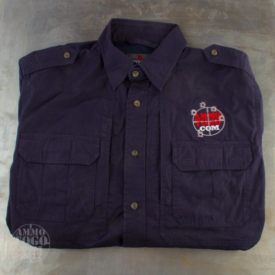 1 - Woolrich Navy Long Sleeve Shirt (Large) With Ammo To Go Logo