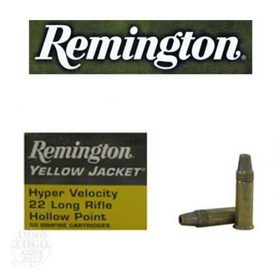 50rds - 22LR Remington Yellow Jacket 33gr. TCHP Ammo