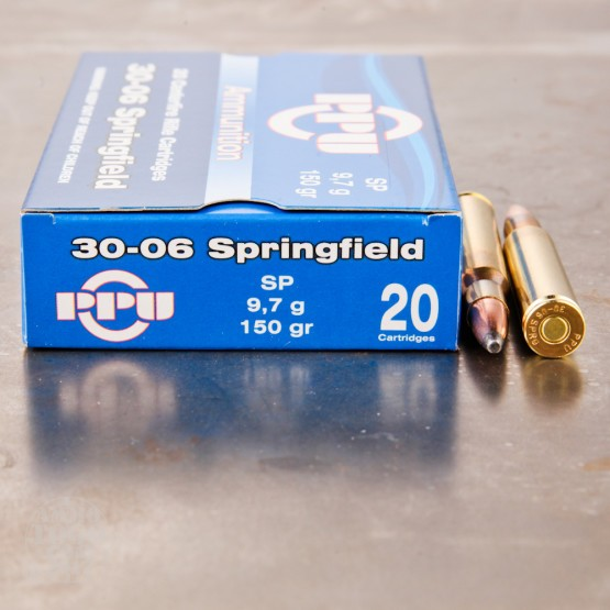 20rds - 30-06 Prvi Partizan 150gr. Soft Point Ammo