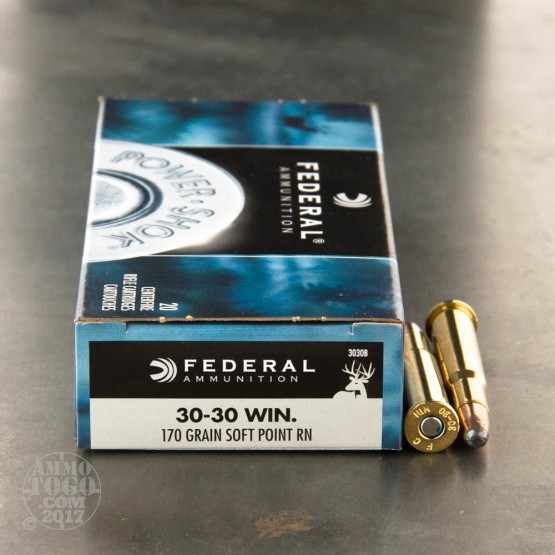 20rds - 30-30 Federal Power-Shok 170gr. SPRN Ammo