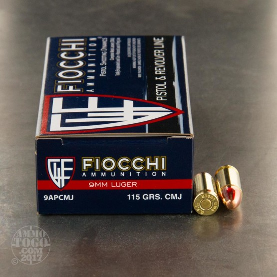 Fiocchi 9mm 115gr. CMJ - 50 Rounds