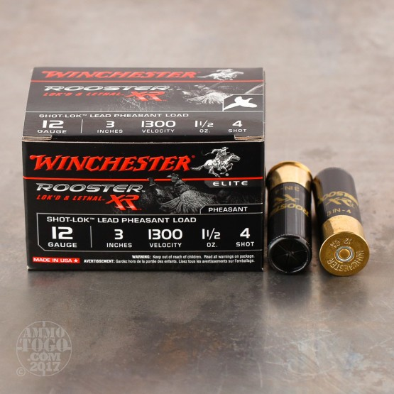 "15rds – 12 Gauge Winchester Pheasant 3"" 1-1/2 oz #4 Shot Ammo"
