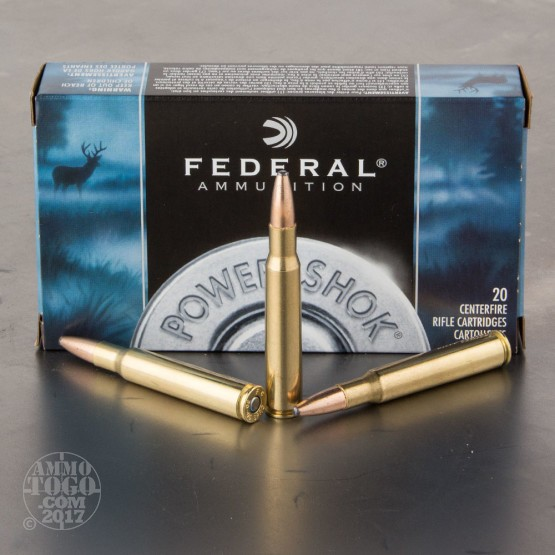 200rds - 30-06 Federal Power-Shok 150gr. SP Ammo