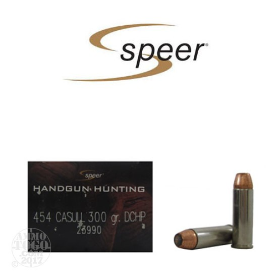 20rds - 454 Casull Speer Gold Dot 300gr. Hollow Point Ammo